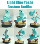 Light Blue Yoshi Custom Amiibo by alltheApples