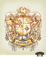 Canterlot Royal Crest by sofas-and-quills