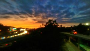 Sunset over Freeway by LordPint