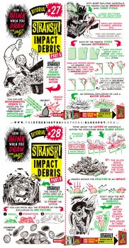 How to Draw IMPACT DEBRIS EXPLODE DAMAGE tutorial by STUDIOBLINKTWICE