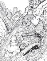 Godzilla KingKong vs Kongzilla by Deadpoolrus