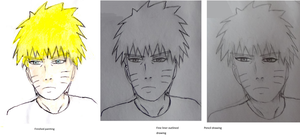 Naruto painting progress by Fran48