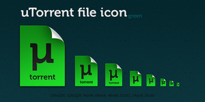 uTorrent green file icon by dmpr0
