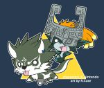 Little Wolf Link and Midna by rongs1234
