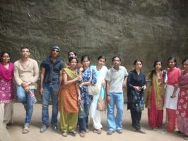 Friends and Me inside a big Cave on a Mountain by diablocyrus