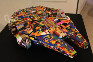 Multicolored UCS Millennium Falcon by FunkBlast