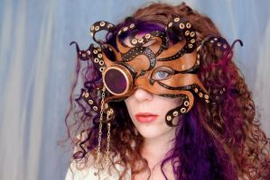 Dari Wearing Steamy Tentacles Mask1 by merimask