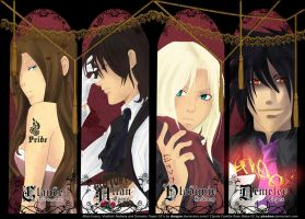 Four Beautiful Siners by Dargon