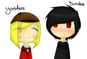 Yandere and Tsundere DIP by Ama-Foxy