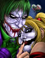 Joker and Harley colored by BDStevens
