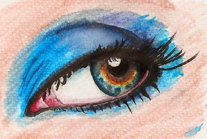Colorful eye by Domisea