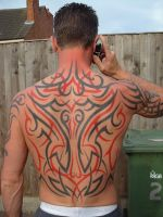 Tribal Back Tattoo by skin-vs-ink