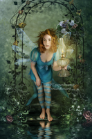 A Blue Fairy Tale by PaperDreamerArt