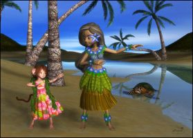 Hula dancers by mininessie66