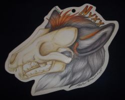Nyxx Fursuit Badge Commission by SaltyPuppy