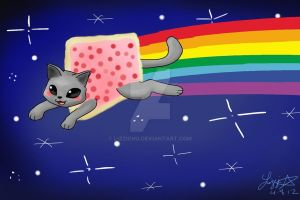 Nyan Easter by Lizzichu