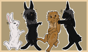 My little bunny group xD by Blackwolfpaw