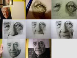 WIP Sir Ian Mckellen by HyperionDreams