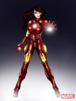 Avengers: Ironman Female HelmetOFF by aerith0808