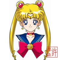 Sailor Moon Face Anime Style by xuweisen