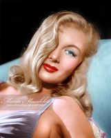 Veronica Lake ~~ 1940 ~~ colourised by Maria-Musikka