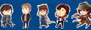Sherlock and Dr Who Chibis by Super-Furet