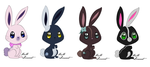 .:: Bunny Adoptables 2 :: 1/4 ::. by Uzu-Adoptables