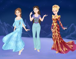Me and my FPK characters - the difference by Arrelline