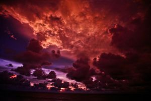 the sky is on fire by PonoPPhotograPh