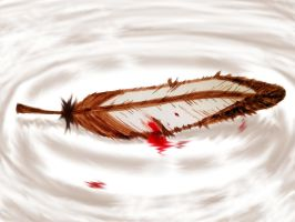 Fallen Quilan Feather by blondemaverick