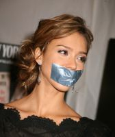 Alba gagged by cablab