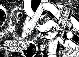 space boy space scene by chicaramirez