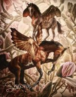 Flying Ponies by Shawna Mac by ShawnaMac