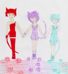 Cute Kitty Trio: The Three Best Friends by UltimaMage578