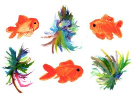 Tropical Gold Fish by LanyLevendula
