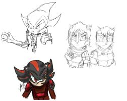 WIP: Sonic/Mass Effect AU by SparklingRogue