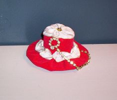 Red Velveteen Cake Mini TopHat by GothicDorothy