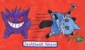 Lucahjin - JoshJepson - JoshTheSLT fainted! by MadHatter-Himself