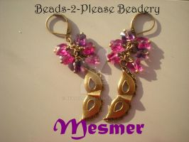 Mesmer Guild Wars 2 Inspired Earrings by beadclass