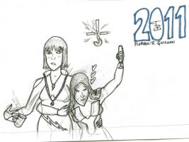 2011 Card - Superheroines by FG-Arcadia