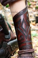 Brown Celtic bracer by Feral-Workshop