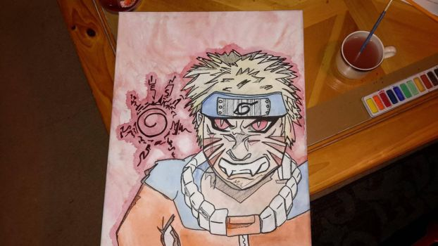 Naruto Watercolor by tipsymouse21