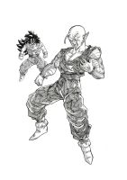 Piccolo vs Kid Gohan by bloodsplach