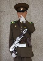 North Korean Palace Guard by ShitAllOverHumanity