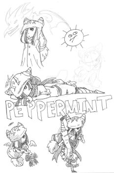 Peppermint doodles: Pose practice by TriShine