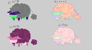 Cloud cow free adoptables set 3 SOLD by Feendra13