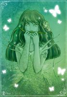 Green butterfly by Clange-kaze