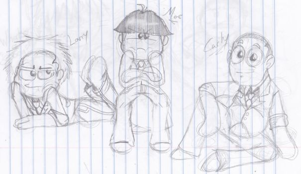 The three stooges favourites by haurko01 on deviantart for The three stooges coloring pages
