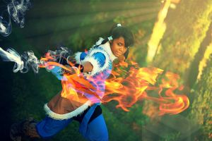 Korra Cosplay | Young Avatar Training by BecomingTia