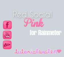 Red Social Rainmeter. by ValentinaCyrus
